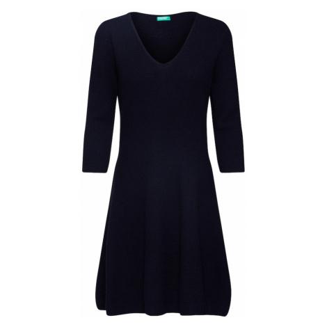 UNITED COLORS OF BENETTON Sukienka z dzianiny czarny