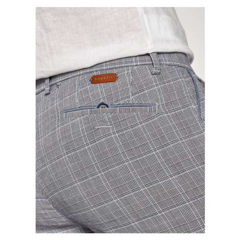 Bugatti Spodnie materiałowe 4890 56337 Szary Regular Fit