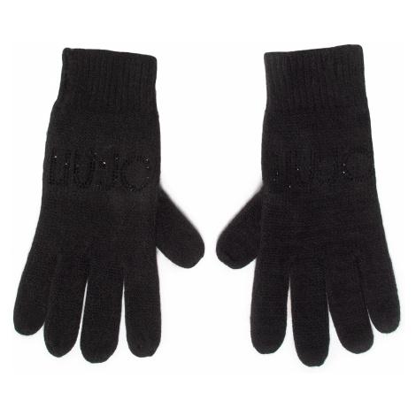 Rękawiczki Damskie LIU JO - Guanti Maglia Logo S 2F0011 M0300 Nero 22222
