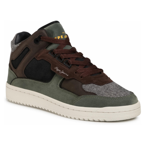 Sneakersy PEPE JEANS - Kurt Basket Tweed PMS30684 Khaki Green 765