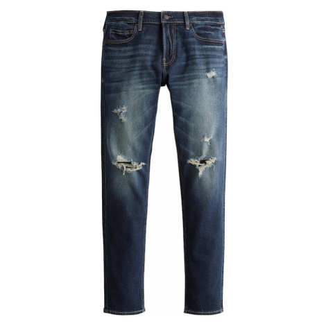 HOLLISTER Jeansy 'BTS19-SKNY DARK KNEE' niebieski denim