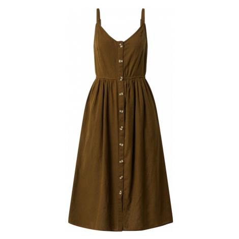 VILA Sukienka jasnobrązowy