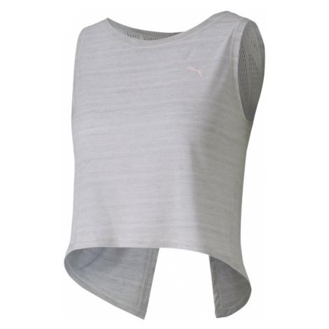 PUMA Top sportowy 'Studio Crop Lace' nakrapiany biały