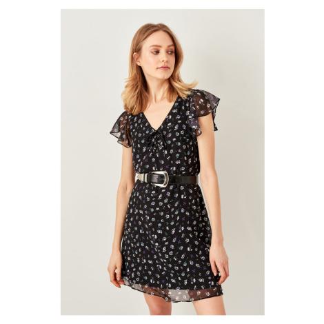 Trendyol Black Floral Dress