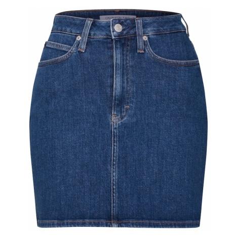 Calvin Klein Jeans Spódnica niebieski denim