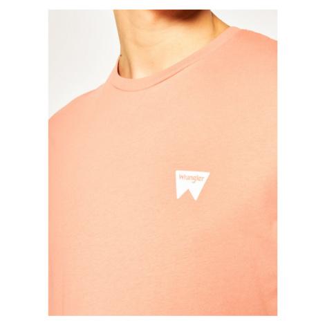 Wrangler T-Shirt Sign Off Tee W7C07D304 Pomarańczowy Regular Fit