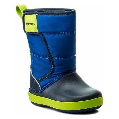 Śniegowce CROCS - Lodgepoint Snow Boot K 204660 Blue Jean/Navy