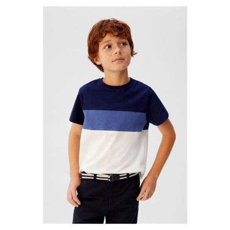 Mango Kids - T-shirt dziecięcy Block 110-164 cm