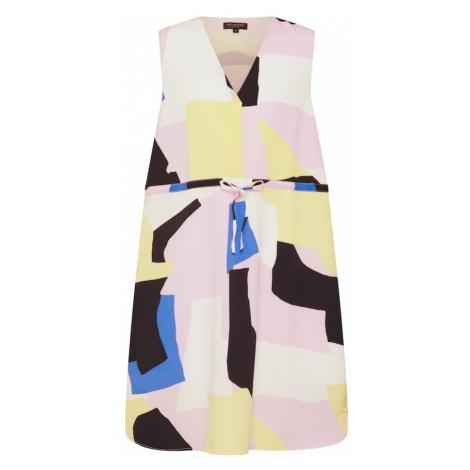 SELECTED FEMME Sukienka 'ANDREA DAMINA' pastelowo-żółty / różowy pudrowy / biały