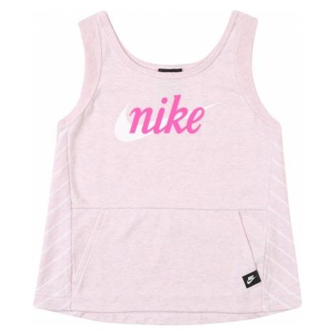 Nike Sportswear Top różowy pudrowy / biały