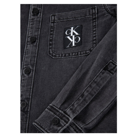 Calvin Klein Jeans Koszula IB0IB00340 Czarny Regular Fit