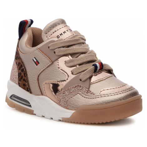 Sneakersy TOMMY HILFIGER - Low Cut Lace Up Sneaker T1A4-30779-0489341 S Rose Gold 341