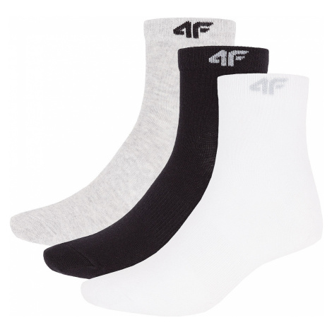 skarpetki 4F X4Z18-SOM301/3 Pack - White/Deep Black/Gray
