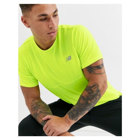 New Balance running accelerate t-shirt in yellow