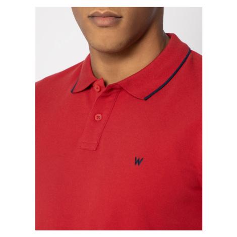 Wrangler Polo Pique W7D5K4X47 Czerwony Regular Fit