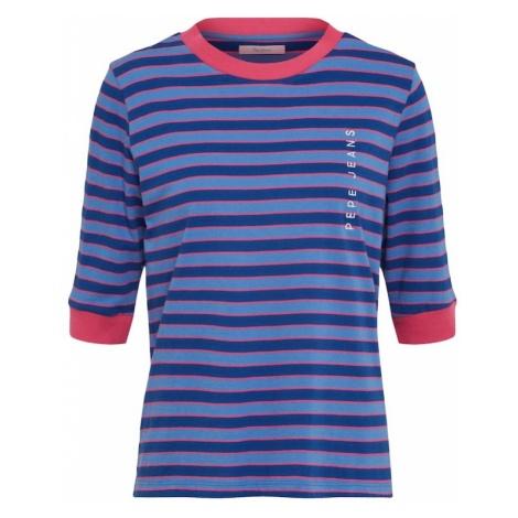 Pepe Jeans Koszulka niebieski / podpalany niebieski / ciemnoróżowy