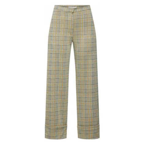 EDITED Spodnie 'Dagita' żółty / czarny / biały