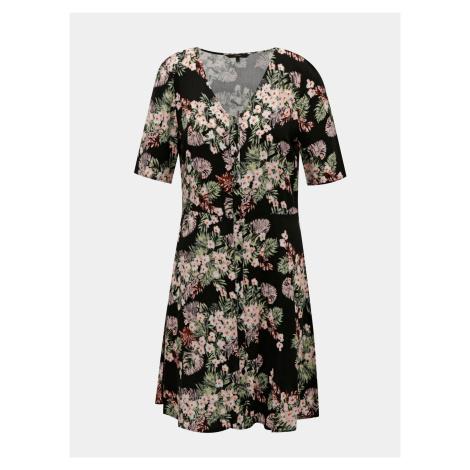 Czarna sukienka w kwiaty VERO MODA Simply
