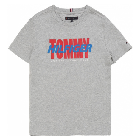 TOMMY HILFIGER Koszulka 'ALPINE' nakrapiany szary
