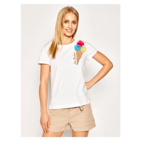 LOVE MOSCHINO T-Shirt W4F301XE 1698 Biały Regular Fit
