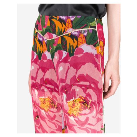 TWINSET Spodnie Różowy Wielokolorowy