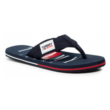 Tommy Jeans Japonki Beach Sandal EM0EM00691 Granatowy Tommy Hilfiger