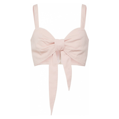 Missguided Top 'Tie Front Co Ord Bralet Pink' różowy