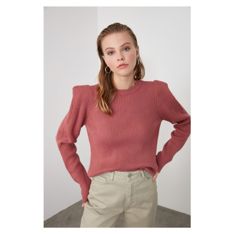 Bluza ze swetrem Trendyol Rose Dry Shoulder Szczegółowe dzianiny