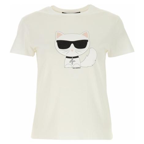 Karl Lagerfeld Koszulka dla Kobiet, biały, Bawełna, 2019