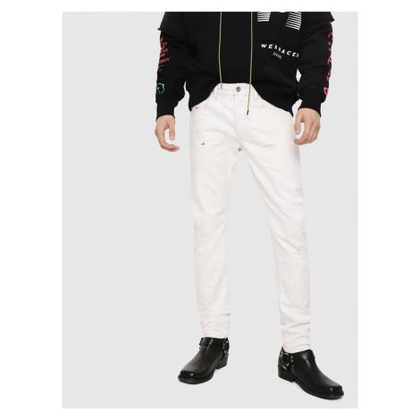 Białe męskie jeansy slim fit Diesel