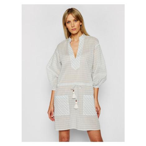 Tory Burch Sukienka plażowa Tunic 82129 Niebieski Regular Fit
