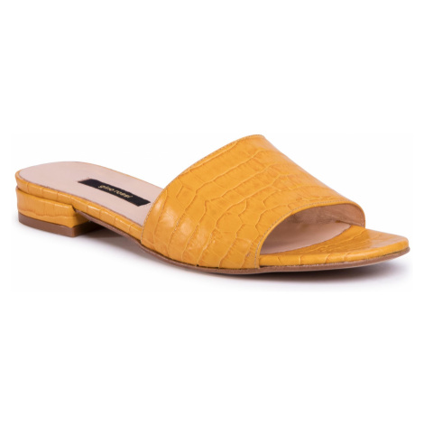 Klapki GINO ROSSI - A45454 Yellow