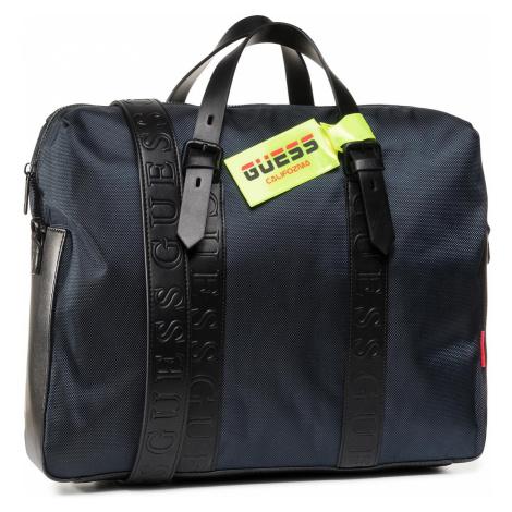 Torba na laptopa GUESS - Dan (Nylon) HMDNNY P0213 BLU