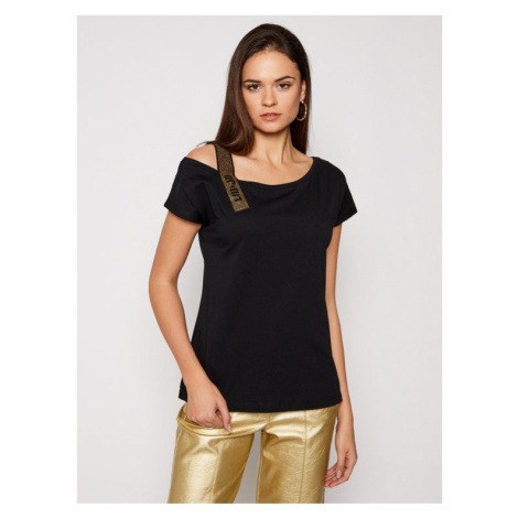 Liu Jo T-Shirt WA1403 J5703 Czarny Regular Fit