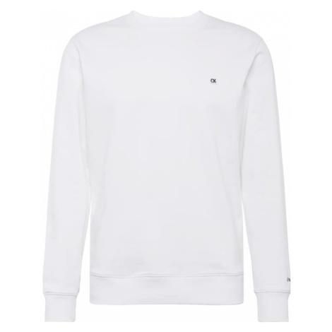 Calvin Klein Jeans Bluzka sportowa 'CKJ CHEST EMBROIDERY CREW NECK' biały