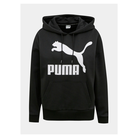 Czarna bluza damska z kapturem Puma