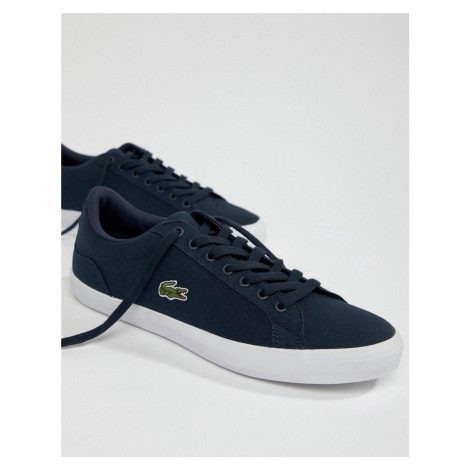 Lacoste Lerond BL 2 trainers in blue canvas