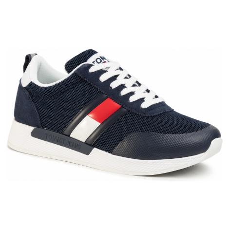 Sneakersy TOMMY JEANS - Flexi Tommy Jeans Flag Sneaker EM0EM00400 Twilight Navy C87 Tommy Hilfiger