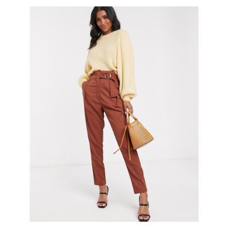 Y.A.S high waist wide leg trouser with wide belt