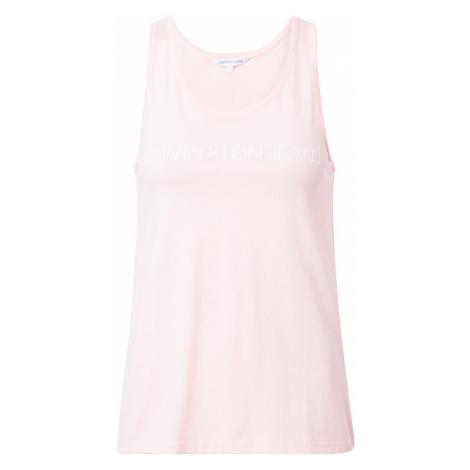 Calvin Klein Jeans Top różowy pudrowy