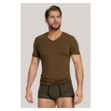 Męski KOMPLET: T-shirt i bokserki Dandy zielony Cotonella