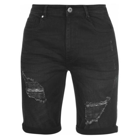 Firetrap Ripped Shorts Mens No Fear
