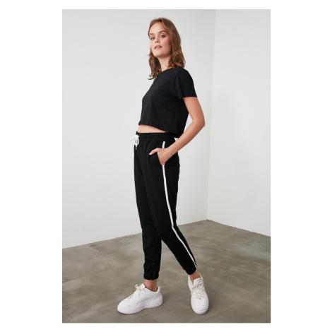Trendyol Black Striped Basic Knitted Tracksuit bottom