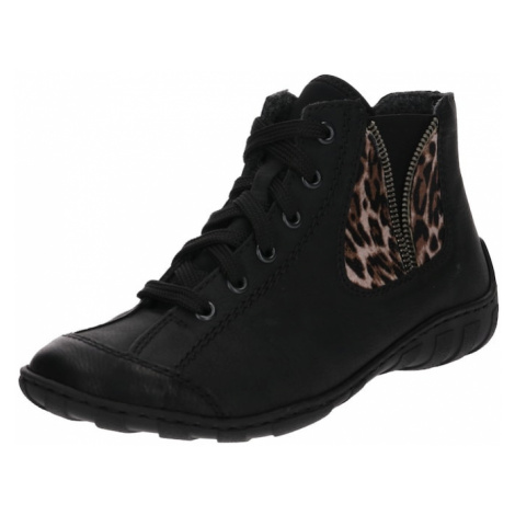 RIEKER Buty sznurowane brązowy / czarny