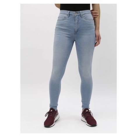 Jasnoniebieskie jeansy skinny z wysokim stanem ONLY Royal
