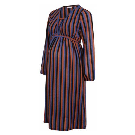 MAMALICIOUS Sukienka 'Becca' czarny / pomarańczowy / niebieski Mama Licious