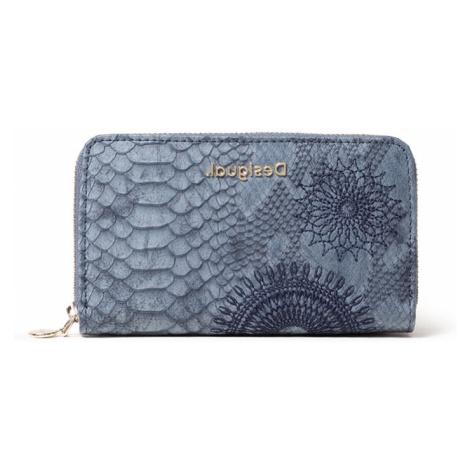 Desigual niebieski portfel Mone Criseida Mini Zip