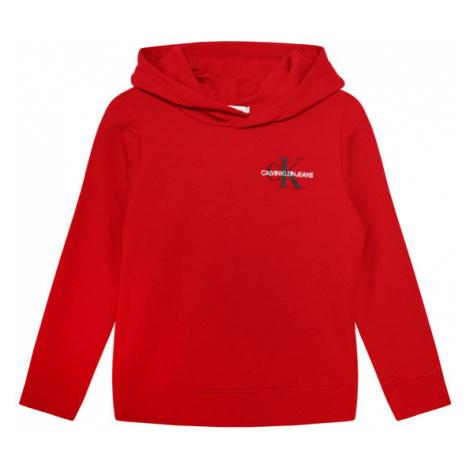 Calvin Klein Jeans Bluza Unisex Small Monogram IU0IU00164 Czerwony Regular Fit