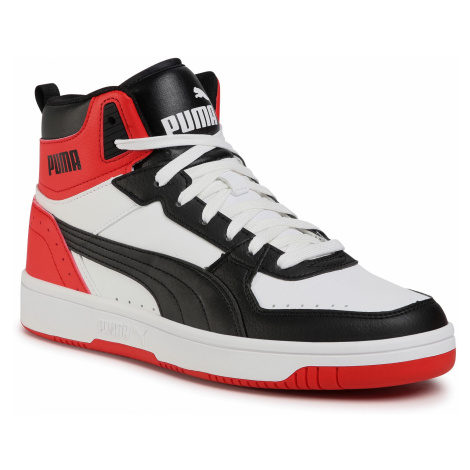 Sneakersy PUMA - Rebound Joy 374765 03 White/Black/High Risk Red