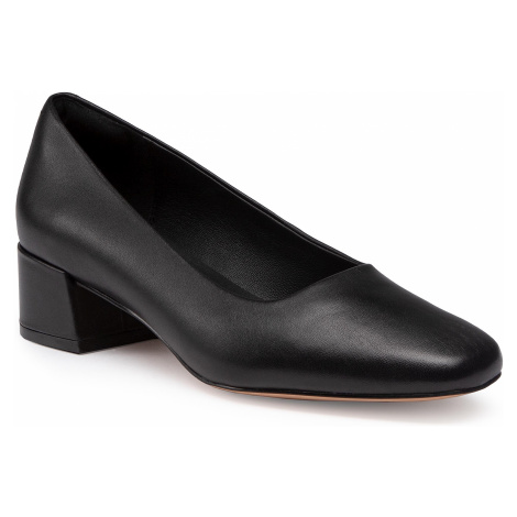Półbuty CLARKS - Sheer35 Court2 261547094 Black Leather